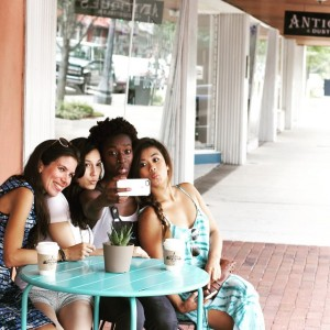 #SanfordSelfie on First Street. From left: Claudia, Sumalee, Tia and Erica. Photo taken by Jessica Lynn Photography.