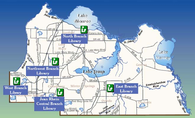 Seminole County Library Map
