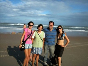 Me, Ma, Jose, Gabi at Daytona Beach