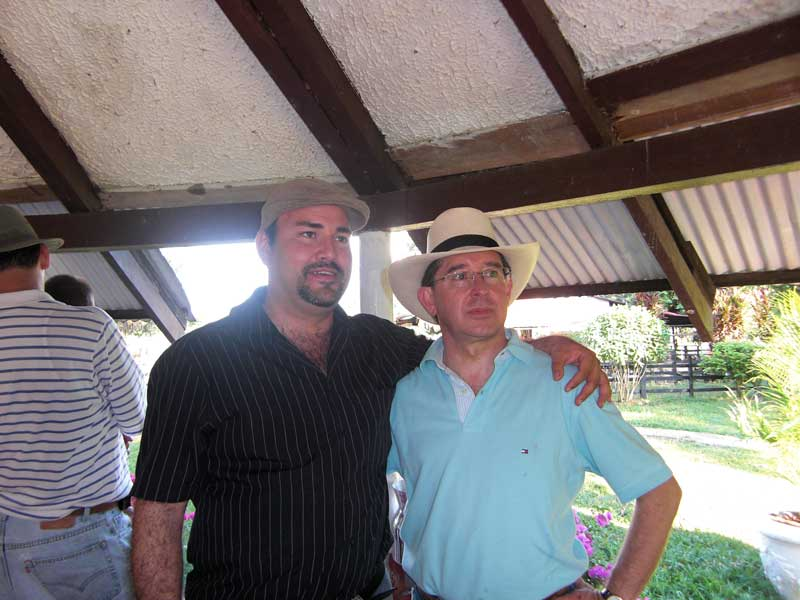 Jose with Alvaro Uribe Doppelgaenger