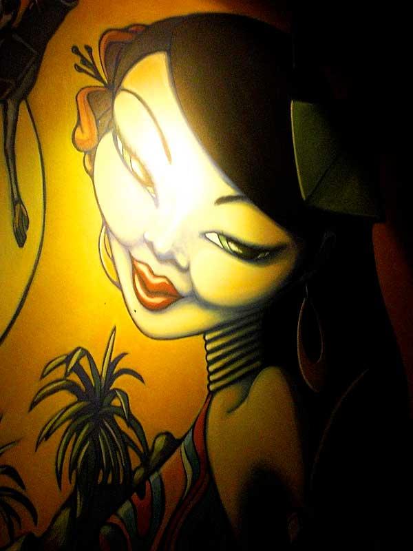 Art inside the Monkey Bar