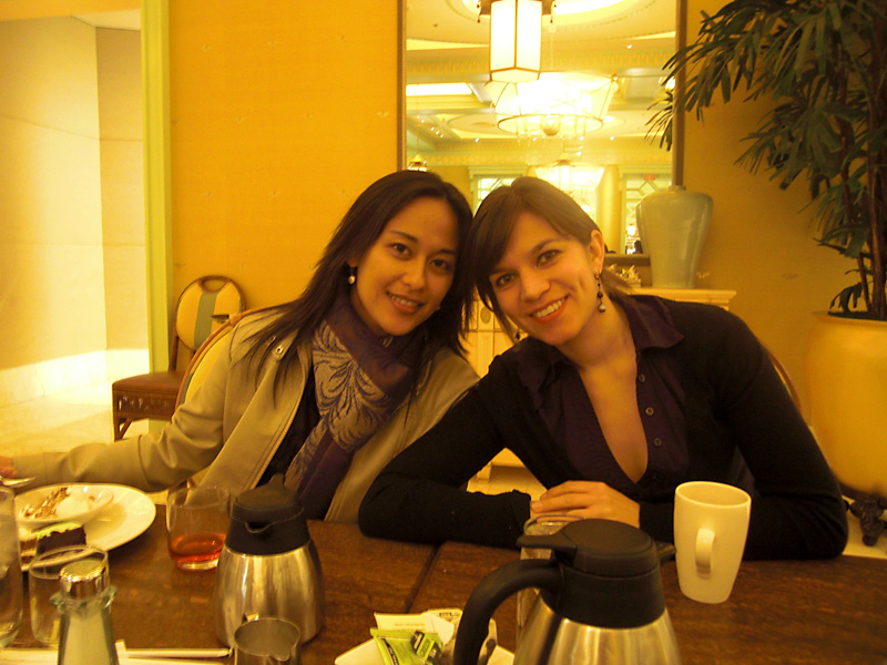 Breakfast at the Wynn - Audrey and my sister Gabi