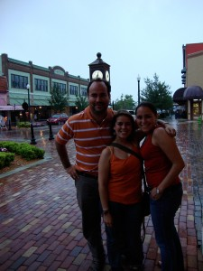 Jose and his cousins by Magnolia Square in Sanford