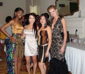 The designers Norma and Thuy with models