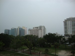 Rain over Downtown Orlando