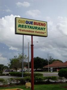 Oh Que Bueno Colombian Restaurant Orlando