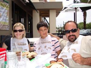 Eating Tacos at Carlos and Charlies
