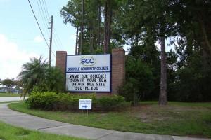 Seminole Community College Entrance Sign