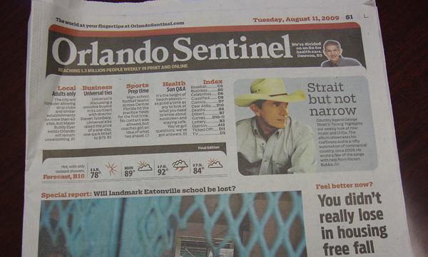 Today's Orlando Sentinel