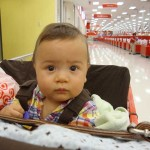 First Ride in a Shopping Cart