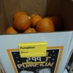 Pumpkins at Aldi