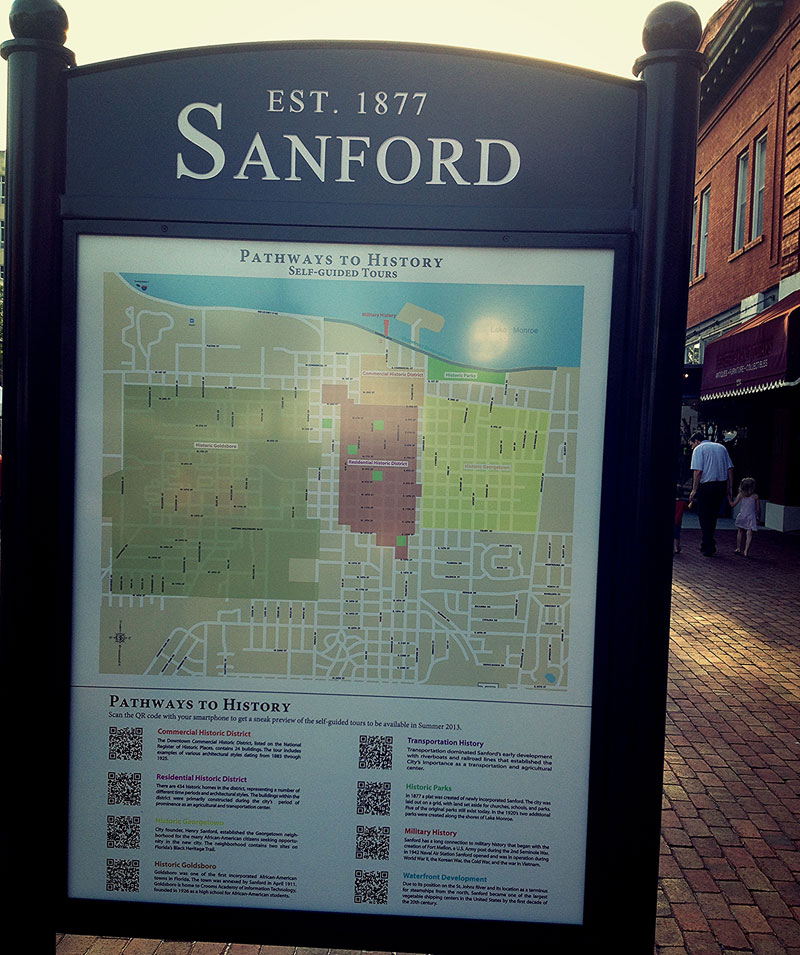 Sanford City Map Downtown