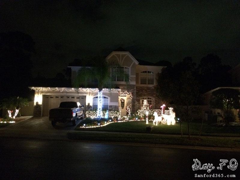 Holiday lights in Sanford