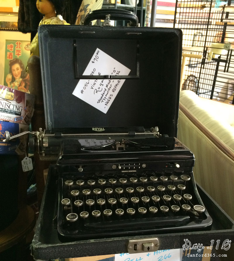 Vintage Typewriter at Sanford Antique Store