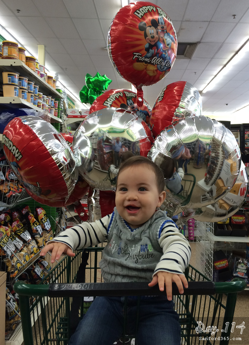 Balloon Shopping at the Dollar Store