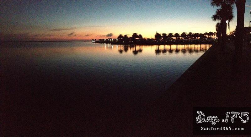 Sunrise at Lake Monroe in Sanford FL