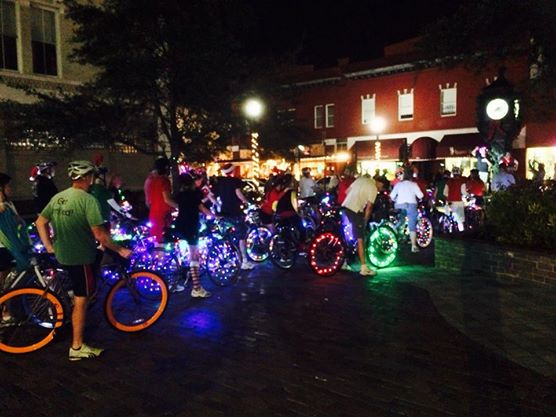 Sanford FL Illuminated Bike Parade
