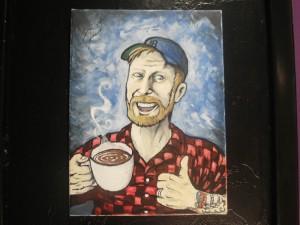 Rabbitfoot Records - Painting of Rob Wallace