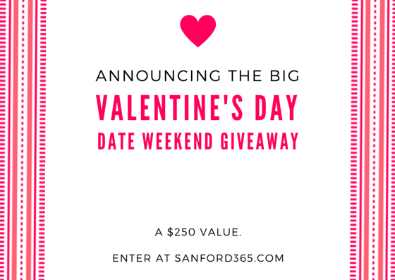 Enter to Win our Big Valentine's Date Weekend Giveaway