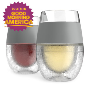 Freeze cooling wine glass