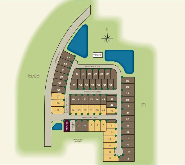Versailles Sanford FL Neighborhood Site Map