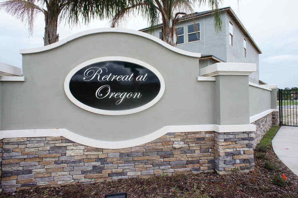 Retreat at Oregon Sanford FL Neighborhood Sign