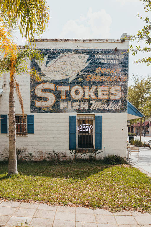 Stokes Fish Market Sign Sanford FL